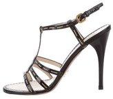 Prada Patent Leather Multistrap Sandals