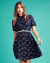 Yumi Belted Shirt Dress