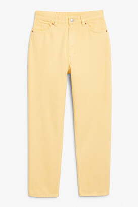 Monki Taiki jeans yellow