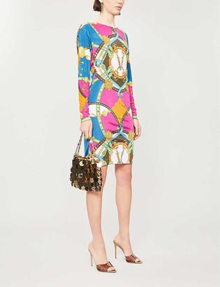 Versace Graphic-print woven midi dress