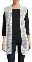 Joan Vass Open-Front Cutout Vest
