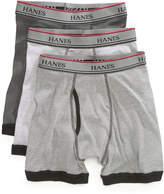 Hanes Platinum 3-Pk. Contrast-Hem Boxer Briefs, Big Boys (8-20)