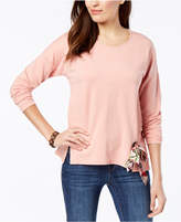 Style&Co. Style & Co Tie-Front Sweatshirt, Created for Macy's