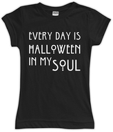 Urban Smalls Black & White 'Halloween In My Soul' Fitted Tee - Toddler & Girls