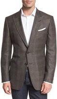 Tom Ford O'Connor Base Glen Plaid Two-Button Sport Coat, Brown