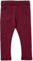 Nano Mauve & Black Dot Jacquard Leggings - Infant, Toddler & Girls