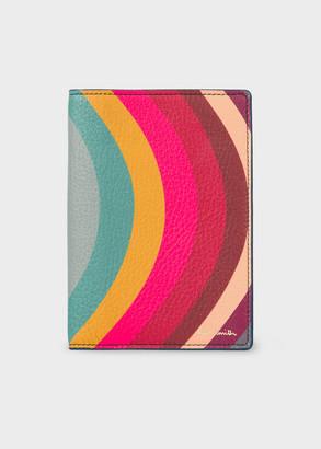 Paul Smith 'Swirl' Print Leather Passport Cover