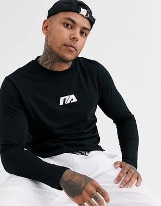 Night Addict basic logo long sleeve top