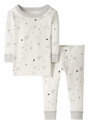 Moon and Back by Hanna Andersson Baby/Toddler 2-Piece Organic Cotton Long Sleeve Star Print Pajama Set