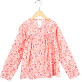 Jacadi Girls' Floral Long Sleeve Top