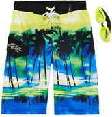 ZeroXposur Zero Xposur Endless Summer Swim Trunks and Goggles Set - Boys 8-20