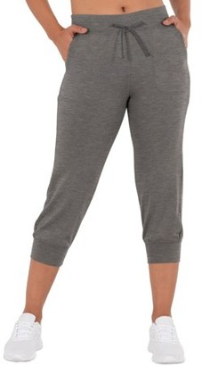 Athletic Works Women's French Terry Athleisure Drawstring Capri Jogger