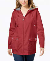 Karen Scott Petite Water Resistant Rain Jacket, Created for Macy's