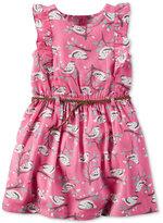 Carter's Bird-Print Belted Dress, Toddler Girls (2T-5T)