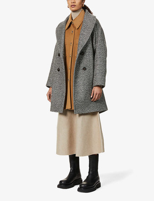 Sessun Audrey 20 double-breasted wool-blend coat