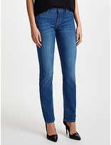 Lee Marion Regular Straight Leg Jeans, Mid Blue Worn