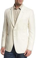 Tom Ford O'Connor Base Herringbone Two-Button Sport Coat, White