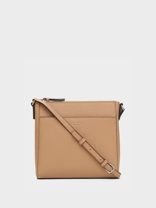 DKNY Pebbled Leather Top-zip Crossbody