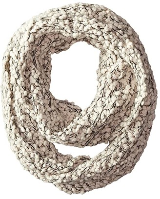 San Diego Hat Company BSS1509 Plus Texture Infinity Scarf with Gold Sequins (Ivory) Scarves