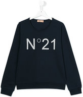 No21 Kids - logo print sweatshirt - kids - Cotton/Spandex/Elastane - 13 yrs