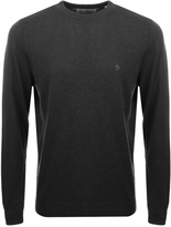 Original Penguin Crew Neck Supima Jumper Grey