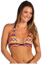 Hurley Mayan Stripe Halter Top (Orange) - Apparel