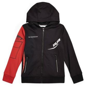 Givenchy Kids GV3 Logo Zip-Up Hoodie