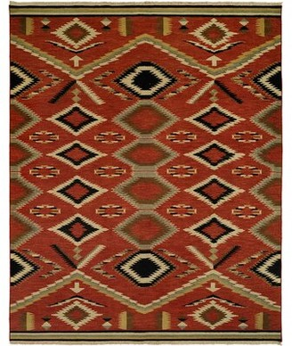 Wildon Home Southwestern Handwoven Wool Red Area Rug Rug Size: Rectangle 10' x 14'