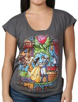 Mighty Fine Beauty and the Beast Classic Glass T-Shirt