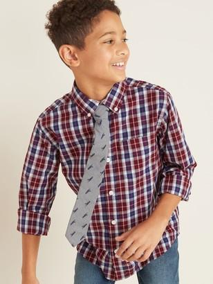 Old Navy Built-In Flex Shirt & Patterned Tie Set for Boys