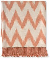 Williams-Sonoma Williams Sonoma Chevron Jacquard Throw, Orange