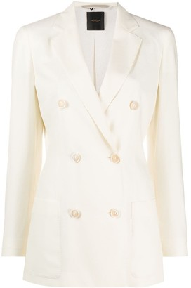 Agnona Fitted Double Breasted Blazer