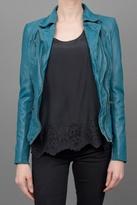 Muuba Leather Jacket Teal