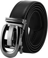 K&S KS Men's Dress Leather Belt Vintage Slide Automatic Buckle KB105
