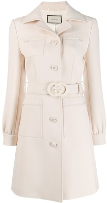 Gucci Fitted Button Up Coat
