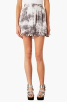 Topshop 'Katie' Scalloped Skirt