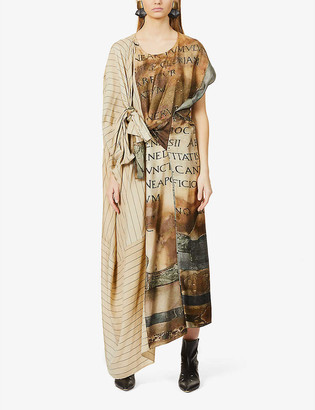 UMA WANG Amit asymmetric woven midi dress