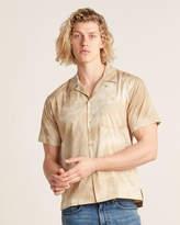 John Elliott Beige Marble Dye Short Sleeve Bowling Shirt