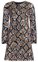 Saint Laurent Sequin-embellished Silk Dress