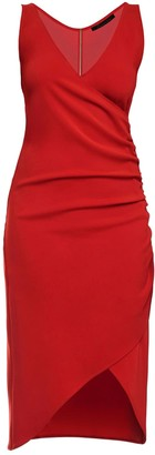 Philosofée By Glaucia Stanganelli Red Mid Length Shirred Dress
