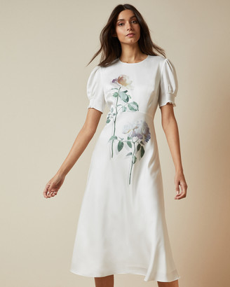 Ted Baker FLEU Bouquet bias cut tea dress