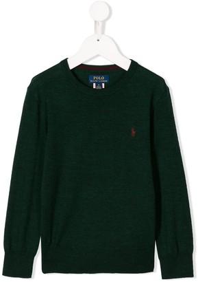 Ralph Lauren Kids logo embroidered sweater