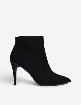 Kg Kurt Geiger Fizzy faux-suede stiletto ankle boots