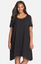 Sejour Plus Size Women's Cold Shoulder Swing Dress