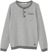 MANGO Boys Striped Cotton Sweater