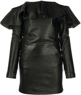 Saint Laurent Off-The-Shoulder Mini Dress