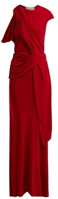 Roland Mouret Goldberg Asymmetric Draped Dress - Red