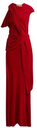 Roland Mouret Goldberg Asymmetric Draped Dress - Womens - Red