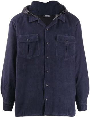U.P.W.W. hooded corduroy jacket