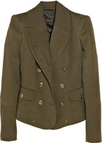 Burberry Wool and silk-blend military jacket